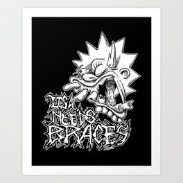 Lisa Needs Braces Art Print