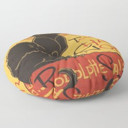 Soon, the Black Cat Tour by Rodolphe Salis Floor Pillow