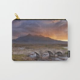 Sligachan Bridge and The Cuillins, Isle of Skye at sunset Carry-All Pouch