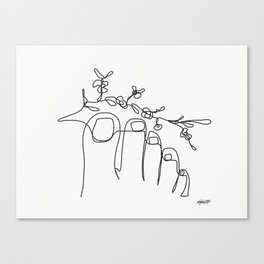 TUMBLR FEET with flowers Canvas Print