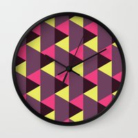 90s Wall Clocks featuring Was it the 90s by Penguin Crush
