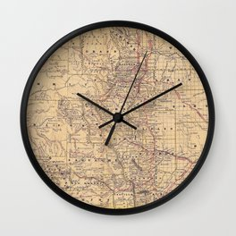 Colorado Vintage Map Wall Clock