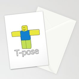 Roblox Noob T-Poze Stationery Cards