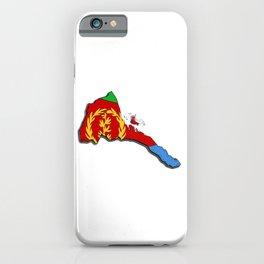 Eritrea Map with Eritrean Flag iPhone Case
