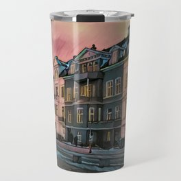 Sunset in Bergen Travel Mug