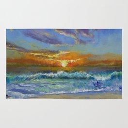 Malibu Beach Sunset Rug