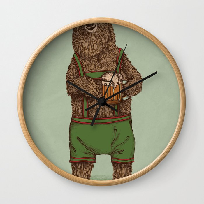 Traditional German Bear Wall Clock