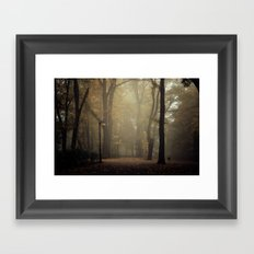 Golden silence Framed Art Print