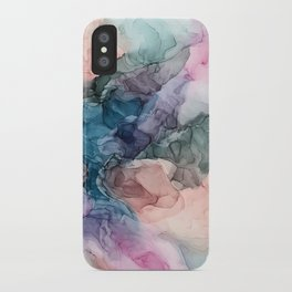 Heavenly Pastels 2: Original Abstract Ink Painting iPhone Case