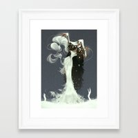 witch Framed Art Prints featuring Witch by Julia Lullaby