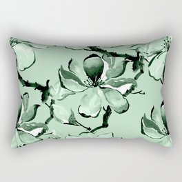 Watercolor Cherry Flowers VI Rectangular Pillow