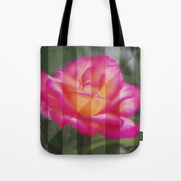 Rose Flower From A New Angle Tote Bag