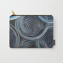 Black, white and blue spiraled coils Carry-All Pouch