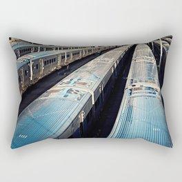 Subway Trains, New York Rectangular Pillow