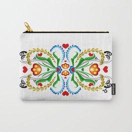 Scandinavian Folk Art ~ Tulip Mosaic Carry-All Pouch