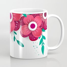 poster with bright flowers. Trendy Design Template. Coffee Mug