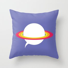 Space talk Throw Pillow