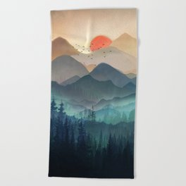Wilderness Becomes Alive at Night Beach Towel