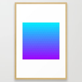 Blue and Purple Ombre Framed Art Print