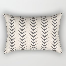 Cocoa Bisque Chevron Line Mid-Century Shapes Rectangular Pillow