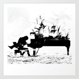 Pianist Passion Art Print