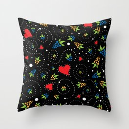 Good Luck Rooster - Just Pattern Throw Pillow