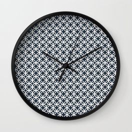 Charmed in Black Wall Clock