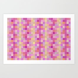 Bright Checkerboard Pattern Art Print