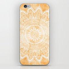 TANGERINE BOHO FLOWER MANDALA iPhone & iPod Skin
