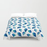 diamonds Duvet Covers featuring diamonds by Sil Elorduy