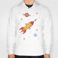 spaceship Hoodies featuring Spaceship! by Doodle Dojo
