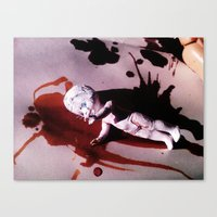 blood Canvas Prints featuring Blood by Lil Ashton
