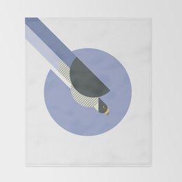 Peregrine Falcon vector illustration Throw Blanket