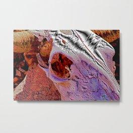 Sheet Metal Skull Metal Print
