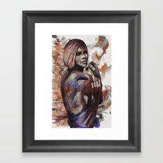 Lara ink by carographic, Carolyn Mielke Framed Art Print