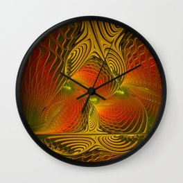 Mysterious and Luminous, Abstract Fractal Art Wall Clock