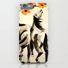 horses under floral tree Slim Case iPhone 6s