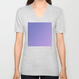 Purple and Light Violet Gradient Unisex V-Neck