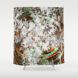 circled partitions Shower Curtain