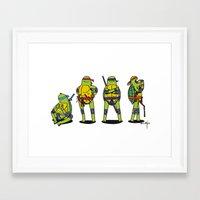 teenage mutant ninja turtles Framed Art Prints featuring Teenage mutant ninja turtles by Nioko