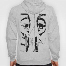 Sketched Fashion White on Black Hoody