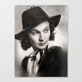 Vivien Leigh, Vintage Actress Canvas Print