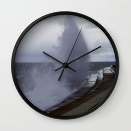 A Gale to Blow Out the Year #3 (Chicago Waves Collection) Wall Clock