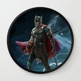 Thor Hammer, Mjolnir be worthy, Ragnarok, God of Thunder Wall Clock