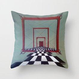 Mystic Door Throw Pillow