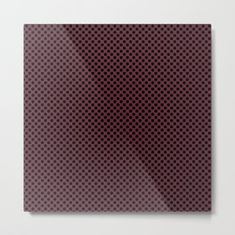 Tawny Port and Black Polka Dots Metal Print
