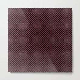 Tawny Port and Black Polka Dots Metal Print