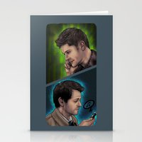 destiel Stationery Cards featuring Destiel Love Calls by Seraph Limonade