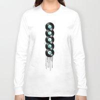 vinyl Long Sleeve T-shirts featuring infinite vinyl by Vin Zzep
