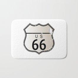 Blank Route 66 Sign Bath Mat
